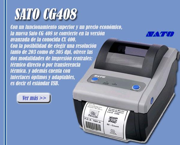 Máy in mã vạch SATO CG 408