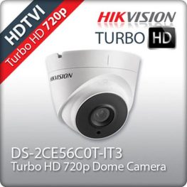 Camera HD-TVI HIKVISION DS-2CE56C0T-IT3 Dome hồng ngoại 1.0 Megapixel