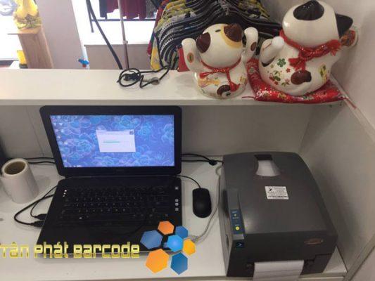 Lắp máy in mã vạch Godex EZ 1100 Plus cho shop thời trang EH LAY