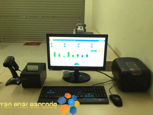 Set up bộ thiết bị bán hàng cho siêu thị mini CT3 - Hà Đông