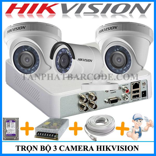 Lắp đặt trọn bộ 3 camera an ninh