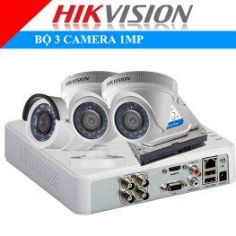 Lắp đặt trọn bộ 3 camera 1Mp Hikvison