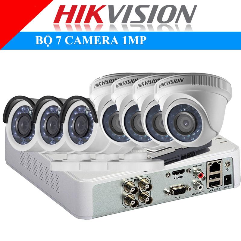 Lắp đặt trọn bộ 7 camera 1Mp Hikvison